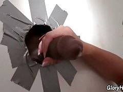 Breasted Blonde Enjoys Glory Hole Fun 2