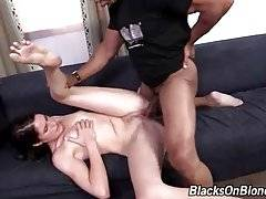 Black Dude Bangs Slutty Brunette Chick 1